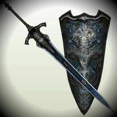 Greatsword and shield of knight Artorias