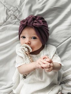 Pretty Purple Hat: (soft) w/ Top Knot – baby turban hat, newborn hat, pretty purple hospital hat, baby bow hat, turbans for tots Baby Kopfschmuck - Unique Baby Outfits Baby Turban, Turban Hut, The Babys, Third Baby, First Baby, Baby Outfits, Baby Dresses, Baby Arrival, Pregnant Mom