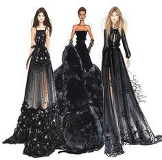 New Fashion Design Drawings Illustrations Elie Saab Ideas Fashion Moda, Fashion Art, Trendy Fashion, Fashion Show, Girl Fashion, Fashion Black, Fashion Design Drawings, Fashion Sketches, Fashion Drawings