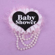 Baby shower badge 50% off for 3pcs sweet gift Birthday souvenir button 21 30 40 50 brooch happy birthday pearl feather decor #Affiliate