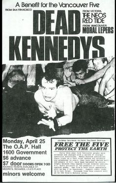 """I still have my big badge for"""" free the five"""" and other gig posters for raising money for the Vancouver five."""