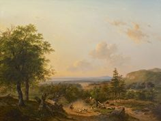 Schelfhout A.   Andreas 'Andries' Schelfhout   Schapenhoedster met kudde in een glooiend zomerlandschap, olieverf op doek 110,4 x 146,0 cm, gesigneerd l.o. en gedateerd 1849
