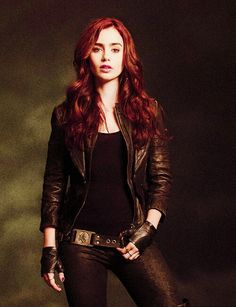Clary fray lilly collins city of bones the mortal instruments red hair