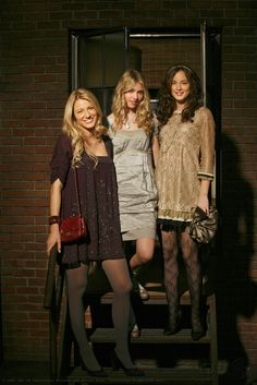 """Blake Lively, Taylor Momsem, and Leighton Meester portray the characters of Serena van der Woodsen, Jenny Humphrey, and Blair Waldorf wearing Marc by Marc Jacobs in the episode """"Blair Waldorf Must Pie""""......."""