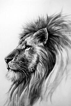 Tattoo lion king ink animals 44 New ideas Best Picture For tattoo minimalistas For Your Tast Lion Head Tattoos, Leo Tattoos, Animal Tattoos, Tattoos Skull, Tatoos, Big Cats Art, Cat Art, Osiris Tattoo, Lion Profile