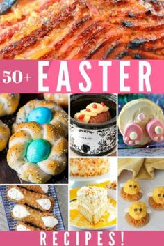 This Easter Recipes Roundup has over 50 recipes for the perfect Easter Brunch and Easter Dinner spread. Sides, mains, desserts, and more! Homemade Baklava Recipe, Grilled Chicken Breast Recipes, Crescent Roll Pizza, Easter Recipes, Dessert Recipes, Brunch Recipes, Holiday Recipes, Desserts, Bar Recipes