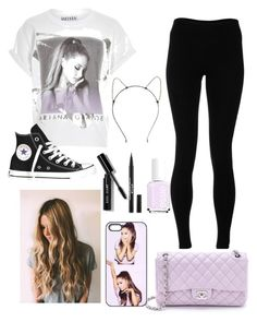 """""""Ariana Grande Honeymoon Tour"""" by amazinggrace31 ❤ liked on Polyvore featuring Solow, Converse, Chanel, Essie and Bobbi Brown Cosmetics"""