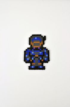 Shadow from Final Fantasy VI Magnet Perler by TheCraftyChimera, $9.99