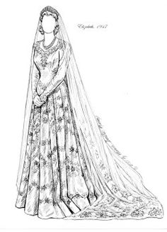 REAL PRINCESS BRIDES ~ ELIZABETH II   A B set based upon the actual wedding gowns worn by 6 royal princesses in England from 1816 to 1947. All the lace, beading & orange blossoms you could want!