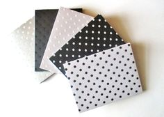 Blank Notecard,Textured Stationary, Polka Dot Cardstock, Multipurpose Card, Packing Supplies, DIY invitations, 8 cards with envelopes, A2 by TheSupplyDestash on Etsy