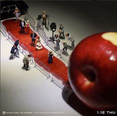 Red Carpet by Tatsuya Tanaka #art #inked #appleart #apple #miniart #tiny #artist