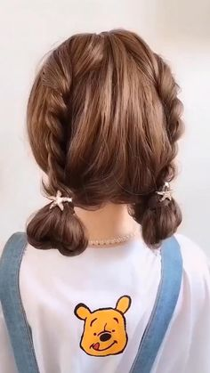 Super easy and super cute 😍😍 Best Picture For easy hairstyles with headbands For Your Taste You are Kawaii Hairstyles, Easy Hairstyles For Long Hair, Diy Hairstyles, Pretty Hairstyles, Hairstyles Videos, Natural Hairstyles, Easy Toddler Hairstyles, Short Hair Bun, Cute Hairstyles For Kids