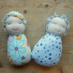 Wee Ones small Waldorf Inspired baby doll simple sewing pattern and tutorial. $3.00, via Etsy.