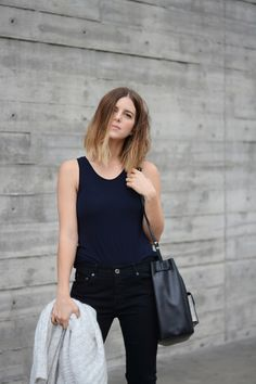 The Fifth Label tank, Loeffler Randall Bag, Strom Jeans
