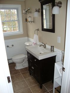 From Blah to Spa!, 40 year old bathroom gets a makeover.  We have been in the house for 4 years, and have been working our way around the house.  This is the second floor bathroom.   Paint Color: Bleeker Beige http://www.benjaminmooreonline.com/2420.html    Additional pics can be found on my blog:  http://livelearnlead.net, Bathrooms