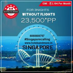 Best of Singapore @23,500* PP !! Include :-  🏡 03 nights accommodation in Singapore 🏡 🍜 Daily breakfast 🍜  Half day panoramic city drive of Singapore on SIC basis Night Safari Tour on SIC basis Sentosa Extreme including admission, one way cable car, S.E.A Aquarium, Luge & Sky ride, Butterfly Park & Insect Kingdom with tea and Wings of Time on SIC basis Return airport transfers on SIC basis GST Of 4.50% Applicable On Total Booking Amount. #BestofSingapore #Offer #Scheme #Breakfast…