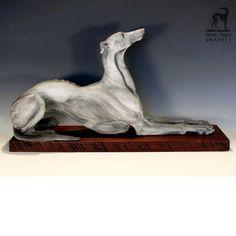 Elegant Annie ©2010 Sarah Regan Snavely  Clay Greyhound sculpture