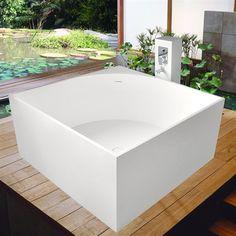 """Aquatica PureScape 711M AquaStone™ Freestanding Soaking Bathtub - 41"""""""