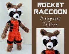 Crochet Pattern: Rocket Raccoon Amigurumi PDF by MilesofCrochet