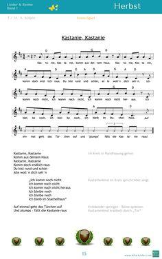 """""""Kastanie, Kastanie"""" - Kreis-Spiel mit Kastanienkind in der Mitte - aus """"Lieder & Reime 1"""" - auf www.kitakiste.jimdo.com"""