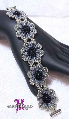 EyeletLace Bracelet Tutorial by Moontique on Etsy – Bracelets Jewelry Seed Bead Bracelets, Seed Bead Jewelry, Bead Jewellery, Diy Jewelry, Handmade Jewelry, Jewelry Design, Jewelry Making, Seed Beads, Jewelry Box