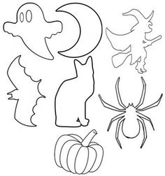 happy halloween 9 free printable stencils spider template and