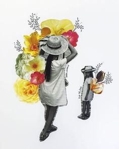 flower collage by kate rabbit - No. 81/100
