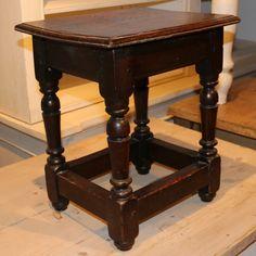 Oak Joint Stool-Victorian oak joint stool. 1880