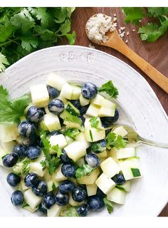 little island studios: Blueberry & Cucumber French Vinaigrette Salad! #TasteWhatMatters #SavorSummer