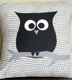 owl pillow, because I think my nephew is like a little owl, and I wish I could make this for him. If I learn how to sew, maybe I can.