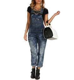Med Denim Cloudy Skinny Overall