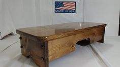 Bed Side Step Stool Provencial Stained ( Made in U.S.A.) ... https://www.amazon.com/dp/B01EHA07G0/ref=cm_sw_r_pi_dp_x_kO2fybS48E2SQ