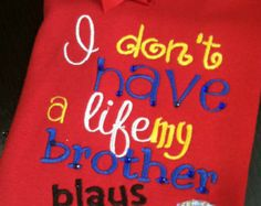 Embroidered baseball shirt, perfect for siblings of the ballfields