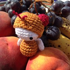 fruit fly made by Marie-Christine B. / pre-order bonus lalylala pattern from book 'Beetles, Bugs and Butterflies'