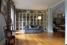 Love the bookshelves in this library. Dreamy.  via @Gretchen (Boxy Colonial) Holcombe