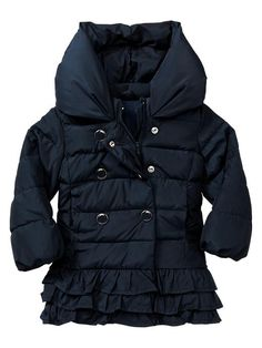 Gap   Warmest ruffle-trim puffer jacket