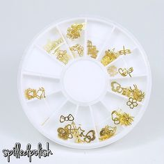 LadyQueen Review: Gold Metal Design Wheel - spilledpolish http://www.ladyqueen.com/nail-art-decoration-mixed-design-gold-metal-slice-nail-sticker-nail-wheel-na0280.html