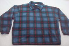 Chance Washburn Expeditions Mens Size XL Plaid Shirt Fleece Pullover Zip Neck US #ChanceWashburnExpidetions #Pullover