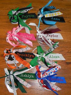 Custom Personalized Ponytail Streamers ANY colors by doodlegirls, $10.00