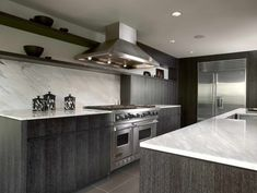 Stunning Grey Kitchen Cabinet Design ,Ask about the degree of finishing available once you buy unfinished cabinets. Some unfinished kitchen cabinets aren't prepared for finish in any way. Dark Grey Kitchen Cabinets, Modern Grey Kitchen, Grey Kitchen Designs, Gray And White Kitchen, Grey Kitchens, Modern Kitchen Design, Oak Cabinets, Bathroom Cabinets, Gloss Kitchen