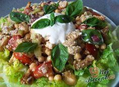 Recepty na saláty s masem – postup, ingredience a druhy receptů   NejRecept.cz Quiche Muffins, Grains, Salads, Good Food, Food And Drink, Low Carb, Vegetables, Desserts, Recipes