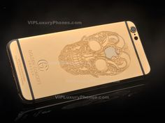 This real gold skull face give another more luxurious and stylish look of the iPhone 6 cover. This golden concept housing for online sale is the one elite accessory. Iphone 6 Covers, Iphone Cases, Iphone 6s Gold, Iphone Upgrade, Golden Apple, Gold Money, Gold Skull, Skull Face, Online Sales