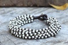 Punk Knot Silver Bracelet