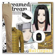 """Hogwarts Students: Haku Yuki"" by bambolinadicarta ❤ liked on Polyvore featuring Lacoste, Rab, adidas, men's fashion, menswear, hogwarts, Hufflepuff, narutoshippuden, hogwartshouse and HakuYuki"