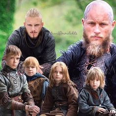 Ragnar and his sons in season 4
