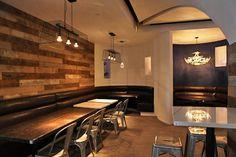 Restaurant Design by Lililolov Small Restaurant Design, Bistro Restaurant, Cafe Bistro, Restaurant Interior Design, Restaurant Ideas, Interior Design Business, Interior Design Inspiration, Coffee Shop, Coffe Bar