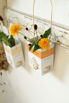 flowers in sweets packages