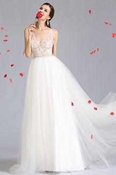 eDressit Plunging V Neck Wedding Prom Dress (01152407)