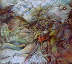 """Nature Wave"" Painting  61x70 cm"