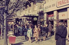 vintage everyday: Prague More Than 45 Years Ago – 55 Stunning Color Photos of the Czech Republic's Capital in 1970 45 Years, Czech Republic, Time Travel, Amsterdam, Street View, Europe, In This Moment, Retro, Photography